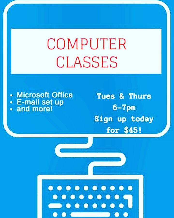 **Attention all WEC students** Would you like to know how to set up and e-mail account, use Microsoft and obtain other basic computer skills?💻💻📧☑️ Sign up now for our COMPUTER LITERACY classes every Tuesday and Thursday from 6-7pm, for only $45!✅
