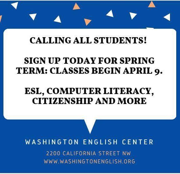 Spring registration is open! Sign up before April 9th for a $10 discount! 📚